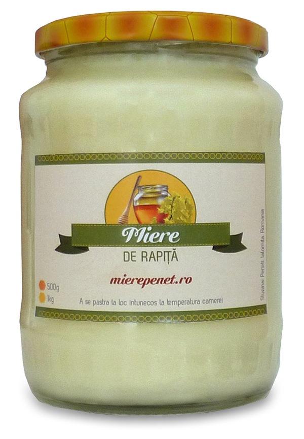 Miere de rapita - 100% naturala - 1kg - mierepenet.ro